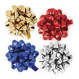 Presentrosetter i metallic i olika färger, 75 mm i diameter