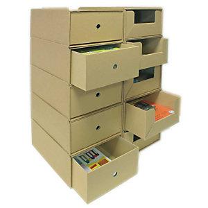 Pressel 10 Boîte superposables A4 haute, nature