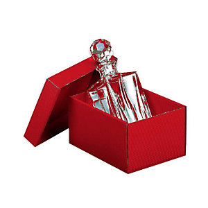 Pressel 10 boîtes cadeau A3 rouge