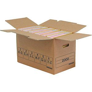 Pressel 10 Boîtes transport et archives pour 6 classeurs, 515x288x325mm