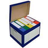Pressel 10 caisses à archives 43l, bleu##Pressel 10 archiefboxen 43l, blauw