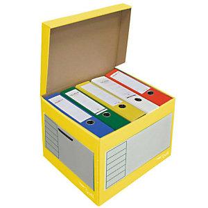 Pressel 10 caisses à archives 43l, jaune