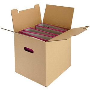 Pressel 10 transport- en archiefdozen voor 4 mappen, 332x287x327 mm