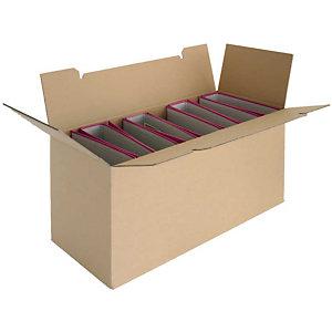 Pressel 10 transport- en archiefdozen voor 8 mappen, 654x287x327 mm