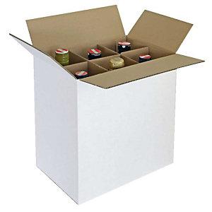 Pressel 10 tussenschotten voor 6 flessen, bruin