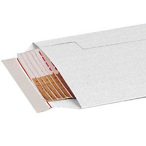Pressel 100 kartonnen omslagen met zelfklevende sluiting, wit, 345x245mm