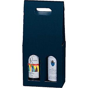 Pressel 20 boîtes cadeau pour 2 bouteilles bleu