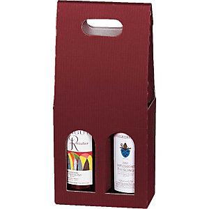 Pressel 20 boîtes cadeau pour 2 bouteilles rouge