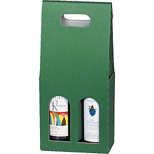Pressel 20 boîtes cadeau pour 2 bouteilles vert