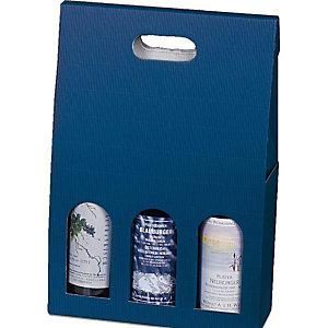 Pressel 20 boîtes cadeau pour 3 bouteilles bleu