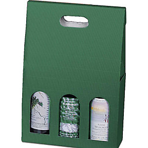 Pressel 20 boîtes cadeau pour 3 bouteilles vert