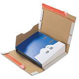 Pressel 20 boîtes d'expédition pour classeur avec bande autocollante, blanc