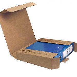 Pressel 20 Boîtes d'expédition pour classeur avec fermeture, brun, 30mm