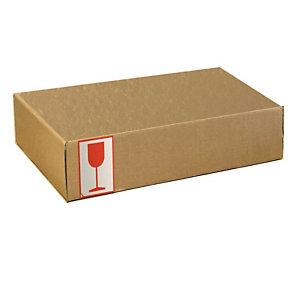 Pressel 20 boîtes d'expédition avec couvercle rabattable, brun, A4+