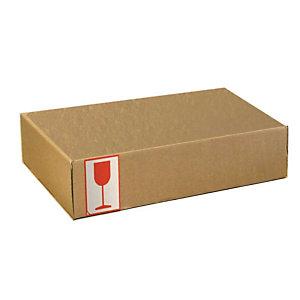 Pressel 20 Boîtes d'expédition avec couvercle rabattable, brun, A4