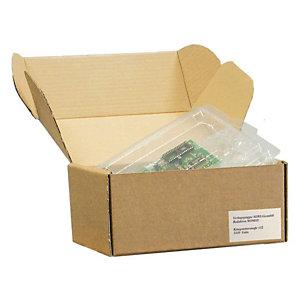 Pressel 20 Boîtes d'expédition avec couvercle rabattable, brun, A5