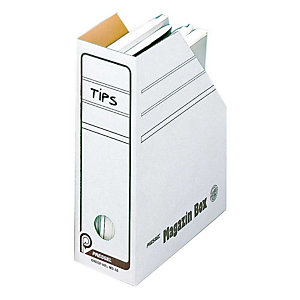 Pressel 20 Boîtes-magazines blanche 75mm, A5