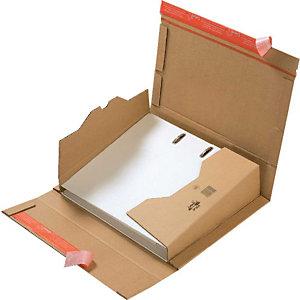 Pressel 20 bruine verzenddozen voor mappen, met zelfklevende sluiting