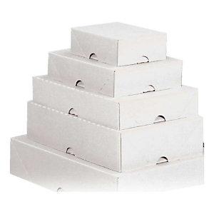 Pressel 20 Cartons télescopiques, blanc, 432x310x100mm