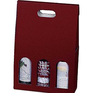 Pressel 20 geschenkverpakkingen voor 3 flessen rood