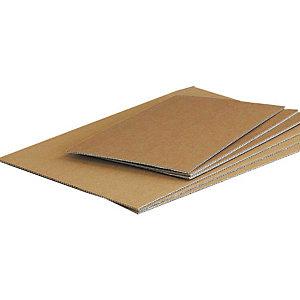 Pressel 20 intercalaires carton simple cannelure, brun, 395x95mm