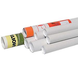 Pressel 20 Tubes d'expédition avec capuchon, blanche, 610x100mm