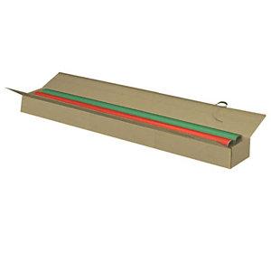 Pressel 25 Boîtes extra-longues 1 cannelure, brun, 1000x130x90mm