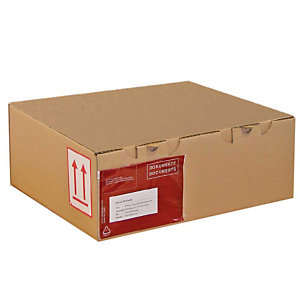 Pressel 25 boîtes postale brunes, 325x300x140mm