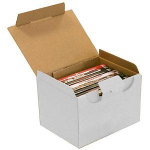 Pressel 25 boîtes postales blanches, 100x80x60mm