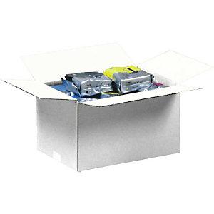 Pressel 25 caisses américaines simple cannelure, blanc, 355x250x250mm