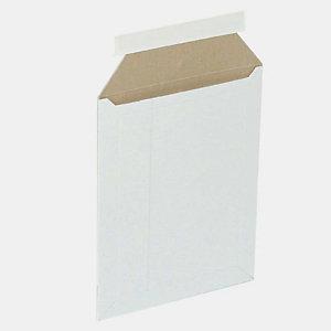 Pressel 50 kartonnen omslagen met zelfklevende sluiting, wit, 370x285mm