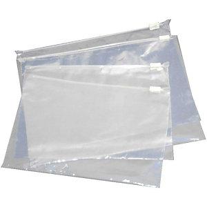 Pressel 500 Sacs à fermeture glissière, 250x170mm