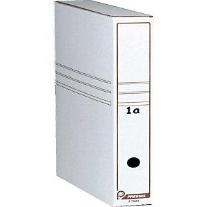 Pressel boites archives blanches, dos 50mm, lot de 30