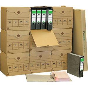 Pressel Kit d'archivage XL, 10 conteneurs archives XL + 40 classeurs