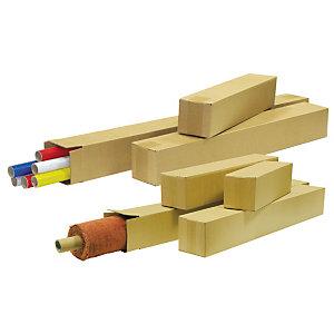 Pressel Scatola lunga, 1000x200x200 mm, Cartone a onda singola, Parte superiore ripiegabile, Avana (confezione 20 pezzi)
