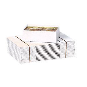 Pressel Scatola per imballaggio, 217x153x80 mm, Cartone ondulato, Coperchio removibile, Bianco (confezione 20 pezzi)