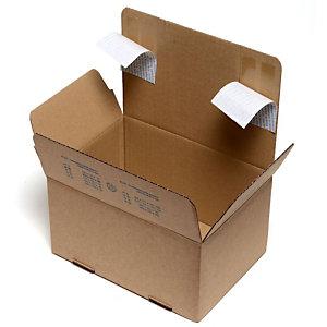 Pressel Scatola per spedizioni postali, 260x220x130 mm, Cartone a onda singola, Striscia autoadesiva, Avana (confezione 20 pezzi)