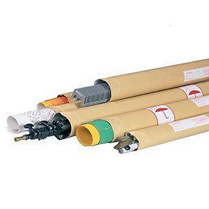 Pressel Tube d'expédition - brun - avec capuchons - Format 7 x 86 cm