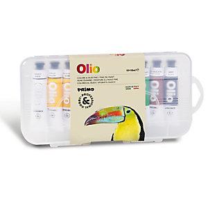 PRIMO - MOROCOLOR Colori a olio e acrilici - tubo da 18ml - colori assortiti - Primo - astuccio 10 colori