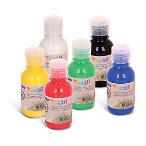 PRIMO - MOROCOLOR Colori per tessuti - 125 ml - colori assortiti - Primo - box 6 pezzi