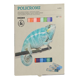 PRIMO - MOROCOLOR Gessetti quadrati Policromi - quadrati - 13x13x80mm - Primo - astuccio 24 gessi