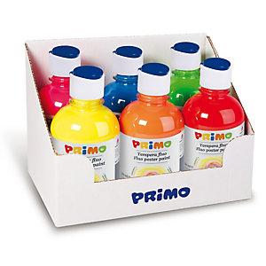 PRIMO - MOROCOLOR Tempera brillante fluorescente - 300ml - colori fluo assortiti - Primo - box 6 colori