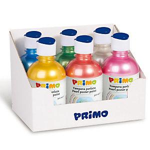 PRIMO - MOROCOLOR Tempera brillante perlata - 300ml - colori perlati assortiti - Primo - box 6 colori