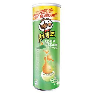 PRINGLES Biscuits salés Pringles crème et oignons, boîte de 175 g