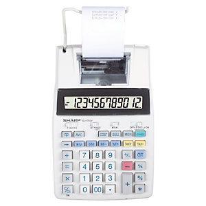 Print rekenmachine Sharp EL 1750V