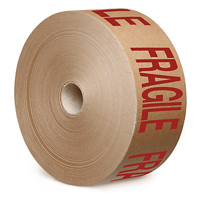 "Printed ""FRAGILE"" Gummed Paper Tape"