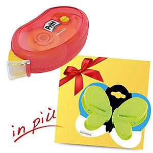 Pritt Offerta 5 colle roller Compact permanente 8,4 mm x 10 m + 1 Farfalla chiudipacco Brandani compreso nel prezzo