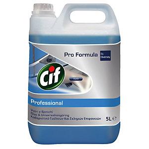Professionele reiniger voor ruiten en oppervlakken Cif, bus van 5 L.