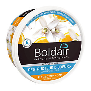 Promo : 1+1 Boldair gel destructeur d'odeurs fleur d'oranger 300 g