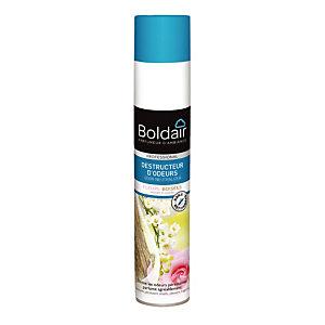 Promo 1+1, Destructeur d'odeurs parfumant Boldair fleurs boisées, aérosol de 500 ml